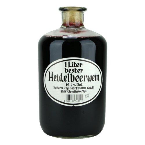 Hartmann Sondheim - bester Heidelbeerwein (1 Liter) 12,5% vol. Apothekerflasche