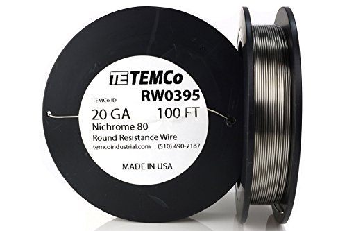 TEMCo Nichrome 80 series wire 20 Gauge 100 FT Resistance AWG ga