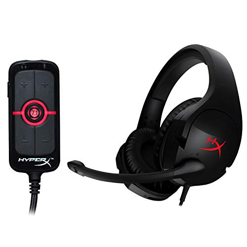 HyperX Cloud Stinger - Gaming Headset and HyperX Amp USB Sound Card - Virtual 7.1 Surround Sound