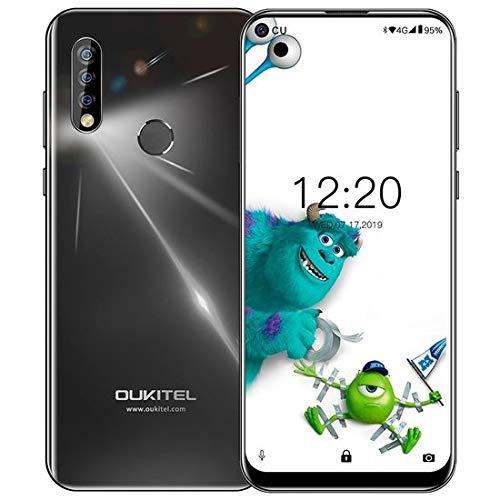 "OUKITEL C17 Pro Dual 4G Smartphone Libre, Pantalla de Perforada 6.35"",Triple Trasero Cámara,Android 9.0 Octa-Core 2.0GHz Teléfono Movil,4GB RAM+64GB ROM,Batería 3900mAh, Face ID (4GB+64GB-Negro)"