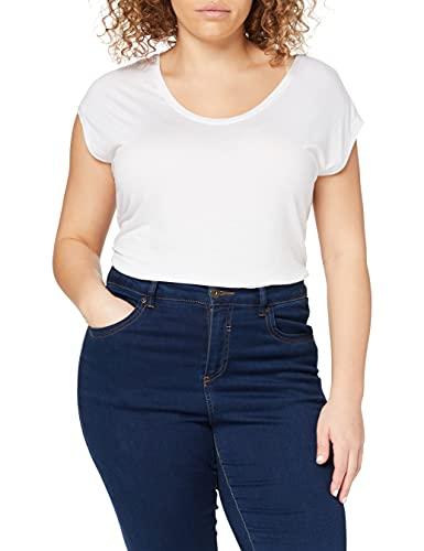 PIECES Damen T-Shirt PCBILLO Tee SOLID NOOS, Weiß (Bright White), 42 (Herstellergröße: XL)