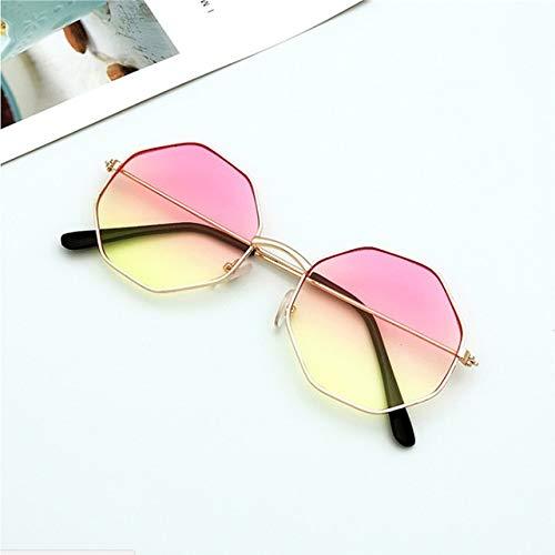 xingxing 1 gafas de sol de plástico irregulares para mujer con marco de metal (color del marco: 1)