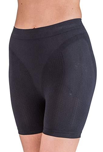 CzSalus Anti Cellulite Short, Minceur Gaine avec Argent - Noir Taille M