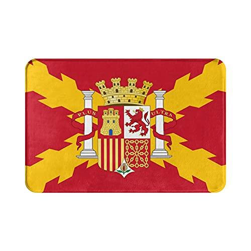 WXM Felpudo de baño con la bandera de España para interior/exterior/puerta delantera/ducha, antideslizante, 60 x 40 cm