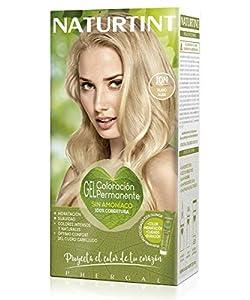 Naturtint Tinte sin Amoniaco, Ingredientes Vegetales, Tono 10N Rubio Alba, 170 ml, paquete de 3