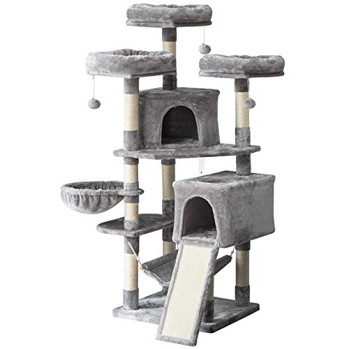 IBUYKE 63' Cat Tree Tower for Large Cats Play Furniture Cat Condo with Sisal Scratching Posts&Board,...