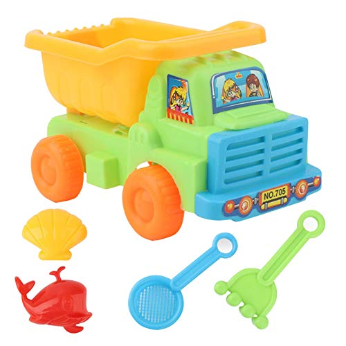 Rpporm Sandkasten Spielzeug für Kinder Plastik Sandspielzeug Set Mit Wagen, Schaufel Sandkasten, Sandform und Rechen Strand Outdoor Spielzeug für Mädchen und Junge