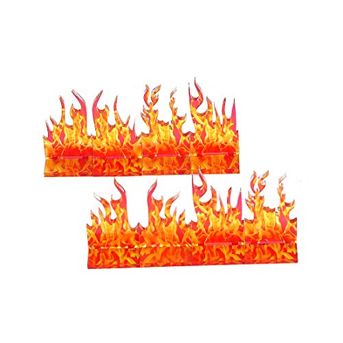 D&D Wall of Fire Miniature (Set of 8) Spell Effects Flame Terrain for Dungeons and Dragons, Pathfinder and Other Tabletop RPG
