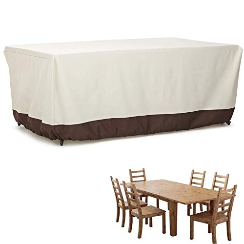 Garden furniture protective cover, rectangular seat cover, waterproof, breathable garden table and furniture cover