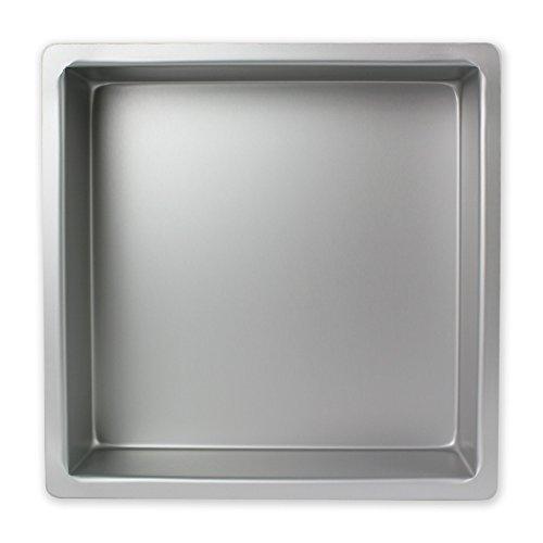 PME Molde para Pasteles Cuadrado de Aluminio Anodizado Profundidad de 13 x 13 x 4-Pulgadas