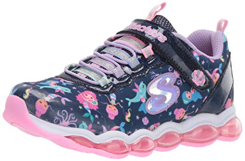 Skechers Kinder Low Sneaker Low Glimmer Lights SEA Glow 20178L NVMT blau 642268