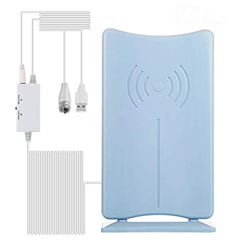 200 Miles TV Antenna, HDTV Antenna [2021 Upgraded Version] HD Digital TV Antennas Indoor Amplified Signal Booster for 4K 1080P Freeview Local Channels Long 16.5ft Coaxial Cable Local Channels