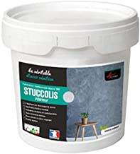 Arcane Stucco Stucco spatelset, decoratief, Stucco kit jusqu'à 7m² Zijdegrijs.