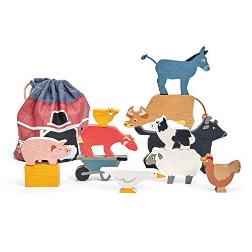 Tender Leaf Toys - Stacking Farmyard Play Set for Kids - Animal Play Set for Encouraging Logical Thinking  Inspire Imaginative Play and Pretend Play