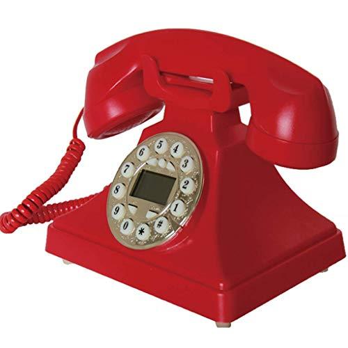 DGHJK Teléfono con Cable, Marcación con Botones de teléfono Retro, Moda Creativa...