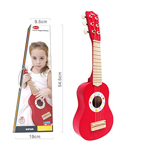 Children's Houten Beginner Gitaar Ukulele Simulatie Play Mini-Musical Kwekerij Speelgoed, Muziek, Gift Van De Verjaardagspartij, Geschikt Voor 2-8 Jaar Oud