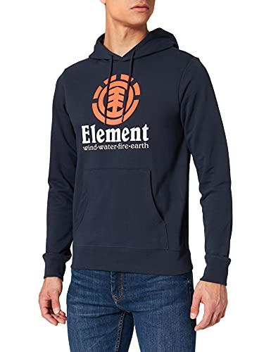 Element Vertical Felpa con Cappuccio, Eclipse Navy, M Uomo