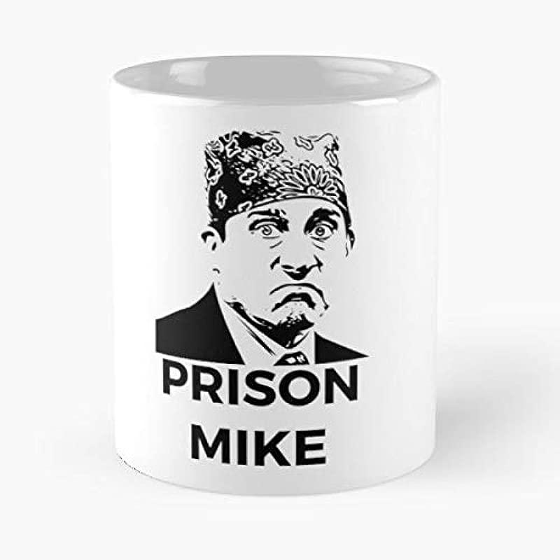 Michael Scott Steve Carell Prison Mike The Office Coffee Mug 11 Oz Funny Gift
