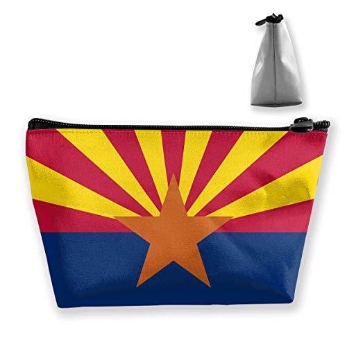 Arizona USA State Flag.png Schminktasche Reißverschluss Organizer Tragbare Kosmetiktaschen für Frauen