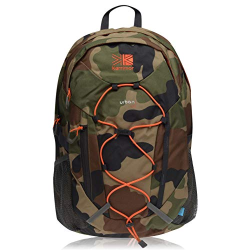 Karrimor Unisex Urban 30 Rucksack Back Pack Mesh Drawstring Camo/Orange One Size