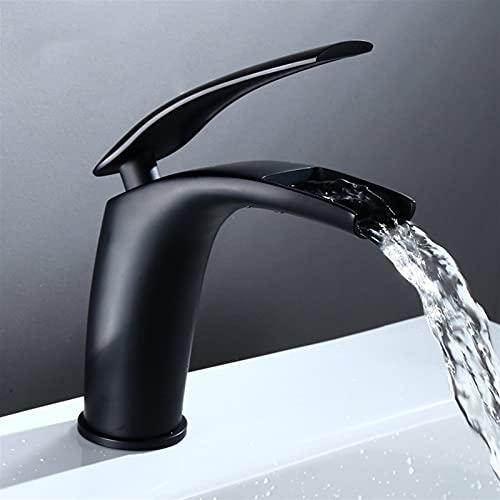 AXWT Grifos baño, grifo de baño mezclador palanca grifo, cascada lavabo mezclador grifo grifo grifo personalidad creativa sobre el mostrador lavar el lavado de la cuenca del cuenca del gabinete de bañ