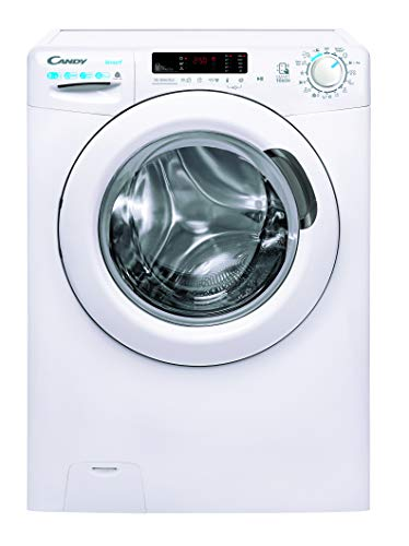 Candy Smart CSWS 4852DWE/1-S, Lavadora secadora, 8 + 5 kg, 1400 rpm, Función vapor, NFC, Certificado lana, Ciclos rápidos, Blanco