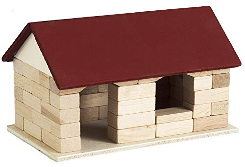 Maurer Max Caseta de jardín con cola de madera, juguete educativo, juguete de construcción
