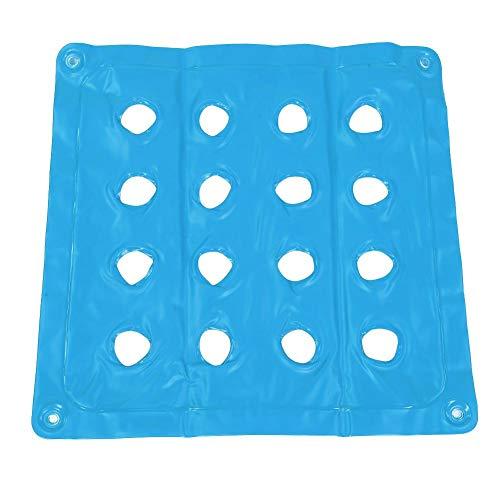 oueaen Aufblasbares Sitzkissen, PVC-Sitzkissen Aufblasbares Beach Home Office Sitze Hip Massage Pad Air Chair Mat(Blau)