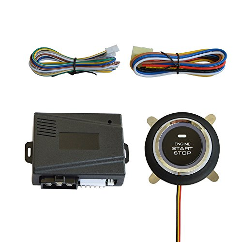 BANVIE Push to Start Stop Ignition Kit Button with Remote Start