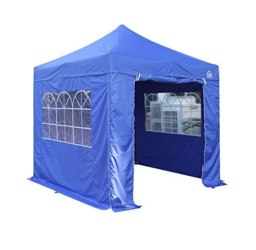 All Seasons Gazebos 2.5 x 2.5m Heavy Duty, Fully Waterproof Pop up Gazebo With 4 Premium Side Walls (Royal Blue)