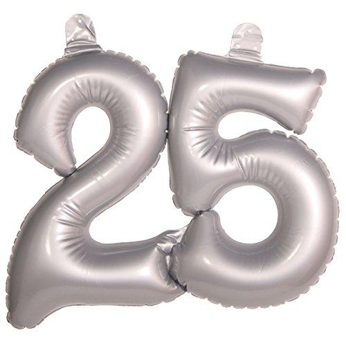 Folat 20051 opblaasbaar getal 25 zilver