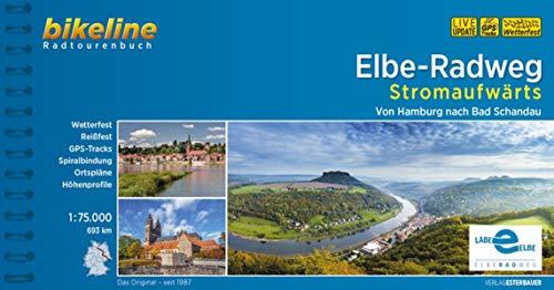 Elbe-Radweg / Elbe-Radweg Stromaufwärts: Von Hamburg nach Bad Schandau, 693 km, 1:75.000, wetterfest/reißfest, GPS-Tracks Download, LiveUpdate
