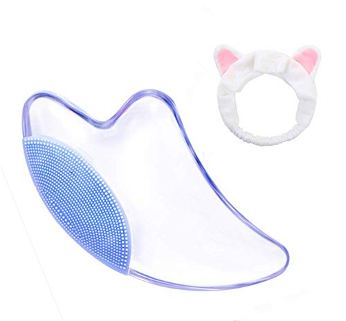 Best crystal Gua Sha Scraping Massage Tool Hand Made crystal Guasha Board - Great Tools for SPA Acupuncture Therapy Trigger Point Treatment on (blue)