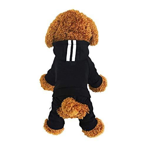 Animales Ropa - Pet Costume Ropa Para Perros Perrito Sudadera Con Capucha Pullover, Negro Medium