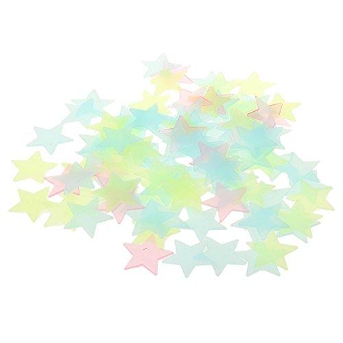 Demarkt 100 Pcs Etoiles Stickers Muraux Autocollants Lumineux Phosphorescentes Stickers Wall Sticker Déco pour Chambre à Coucher Stickers Muraux Pépinière Chambre de Bébé Enfant