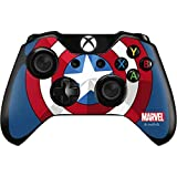 Skinit Decal Gaming Skin Compatible with Xbox One Controller - Officially Licensed Marvel/Disney Captain America Emblem Design