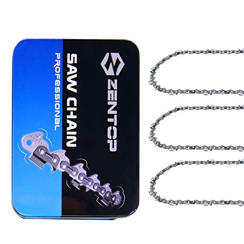 Zentop 16-Inch 3 Pack Chainsaw Chain - 3/8