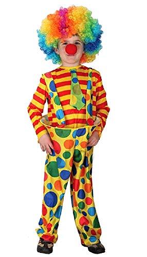 Disfraz de payaso - color amarillo - disfraces para niños - carnaval - circo gordo de halloween - niño - talla l - 5/6 años - idea de regalo original