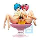 Banpresto Re: Zero Starting Life in Another World Estatua Rem & Ram Pudding a la Mode, Multicolor (82518)