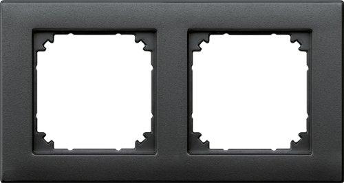 Merten 486214 M-PLAN-Rahmen, 2fach, anthrazit