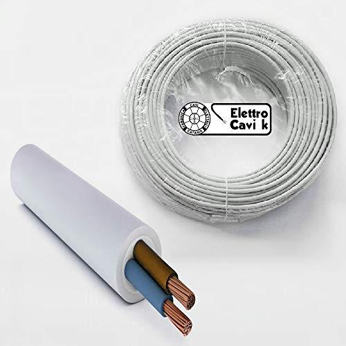 ® ELETTRO CAVI K - CAVO FG16OR16 2x1,5 mm² IN DOPPIA GUAINA PER ESTERNO 2x1.5 mm² BIPOLARE 2 POLI 50 METRI