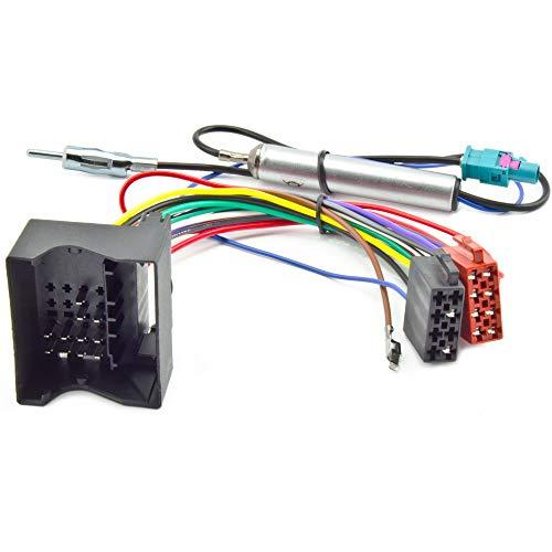 OPEL Radio ISO Stecker Adapter Quadlock Fakra DIN Antenne Phantomeinspeisung 12V