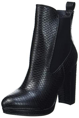 Buffalo Damen MICAIAH Mode-Stiefel, Snake Black, 38 EU