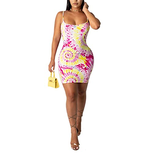 2021 Fashion Trend Women Ladies Summer New Sleeveless Mini Dress Pattern Sexy Holiday Party Fitting Sundress