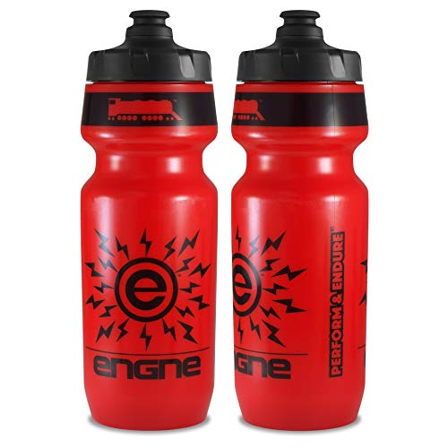 NGN Sport - High Performance Bicycle | Bike Water Bottle for Triathlon, MTB, and Road Cycling - 24 oz (2-Pack) (Red/ Black (2-Pack))