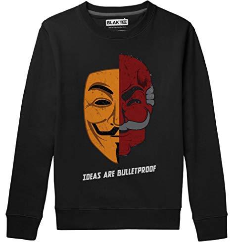 BLAK TEE Unisex Ideas Are Bulletproof Fsociety Meets V VendettaSweatshirt XXL