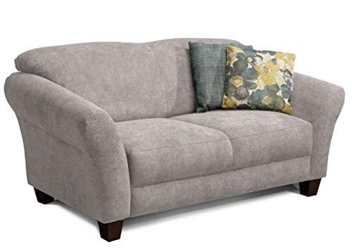 CAVADORE 2-Sitzer Gootlaand / Großes Sofa im Landhausstil / Mit Federkern / 163 x 89 x 84 / Hellgrau