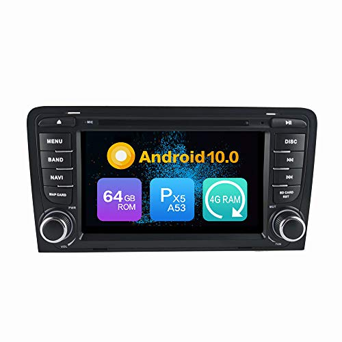 Android 9.0 Estéreo DVD Ram 4G 64G ROM Autorradio GPS Navegación Radio porAudi A3 (2003-2013)