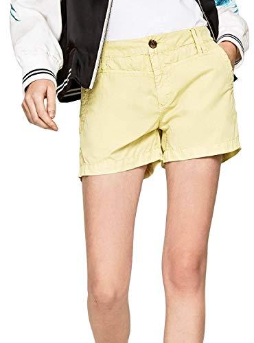 Pantalones cortos Pepe Jeans amarillos para mujer