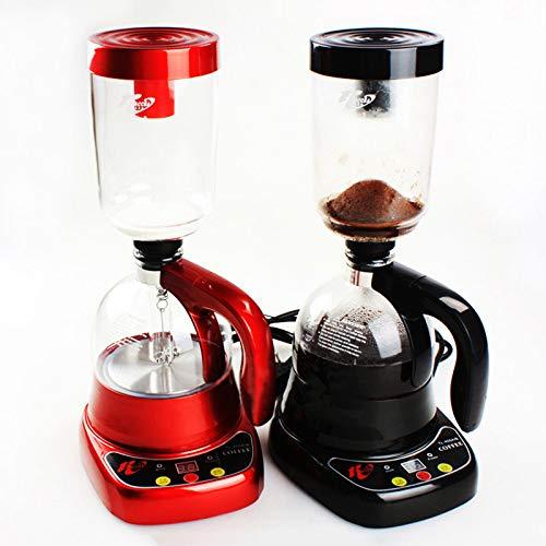 Máquina de café POUPDM, cafetera doméstica, cafetera de sifón comercial, cafetera, juego de máquinas para cocinar, cafetera eléctrica de vidrio, color negro